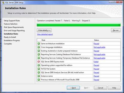 SQL Server 2005 Express Tools : Failed
