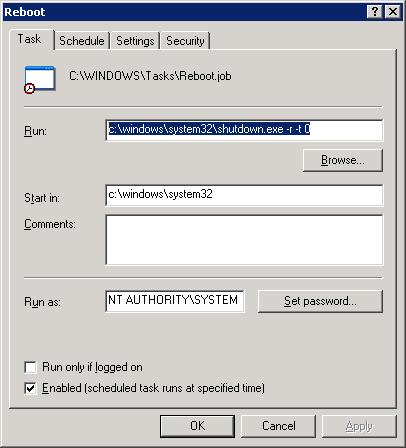 Task Scheduler Screenshot
